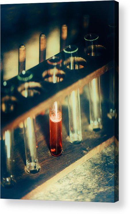 Test Tubes Acrylic Print featuring the photograph Test Tubes by Innershadows Photography