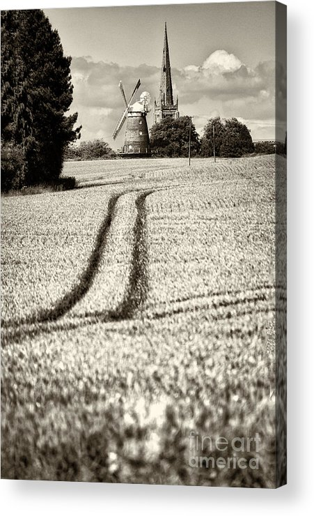 Thaxted Acrylic Print featuring the photograph Thaxted Gloaming Thaxted Mill by Jack Torcello