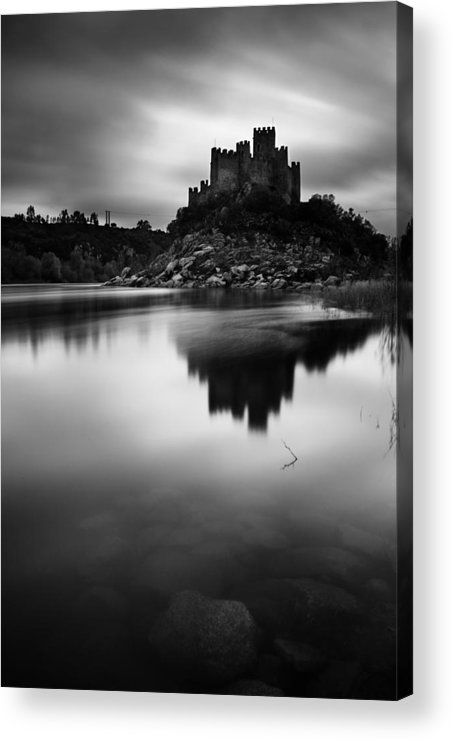 Castle Acrylic Print featuring the photograph The Almourol Castle by Jorge Maia