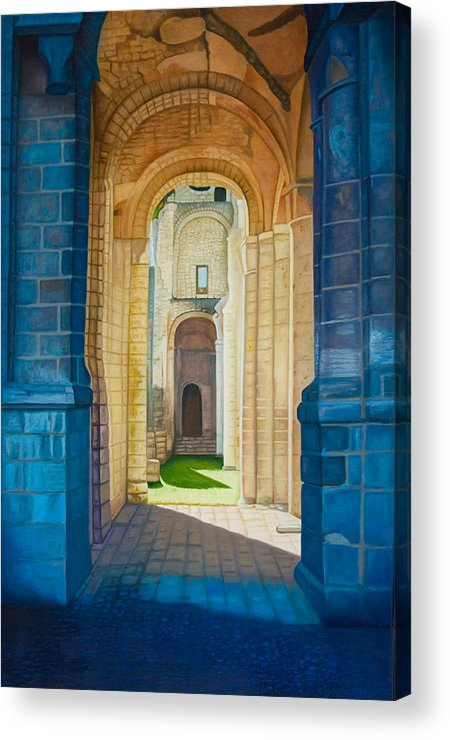 Architecture Acrylic Print featuring the painting The Arches Of The Abbey At Jumieges by Stephen Degan