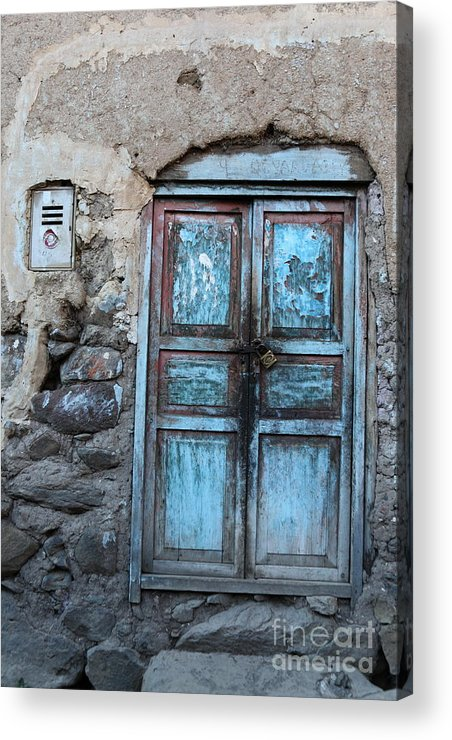 Doors Acrylic Print featuring the photograph The Blue Door 1 by James Brunker