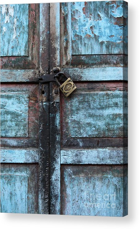 Doors Acrylic Print featuring the photograph The Blue Door 2 by James Brunker