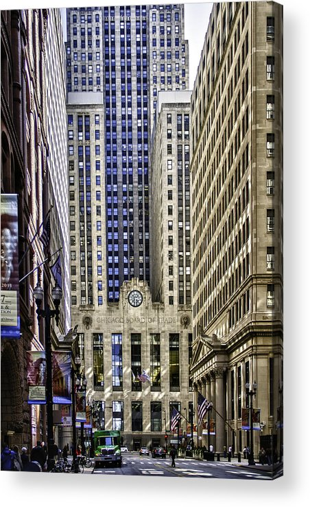 Chicago Photographs Acrylic Print featuring the photograph The Chicago Skyline Day-006 by David Allen Pierson
