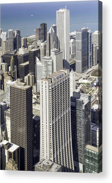 Photos Framed Prints Acrylic Print featuring the photograph The Chicago Skyline From Sears Tower-010 by David Allen Pierson