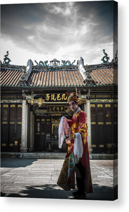 Door Acrylic Print featuring the photograph The Door God by Ronnie Chan