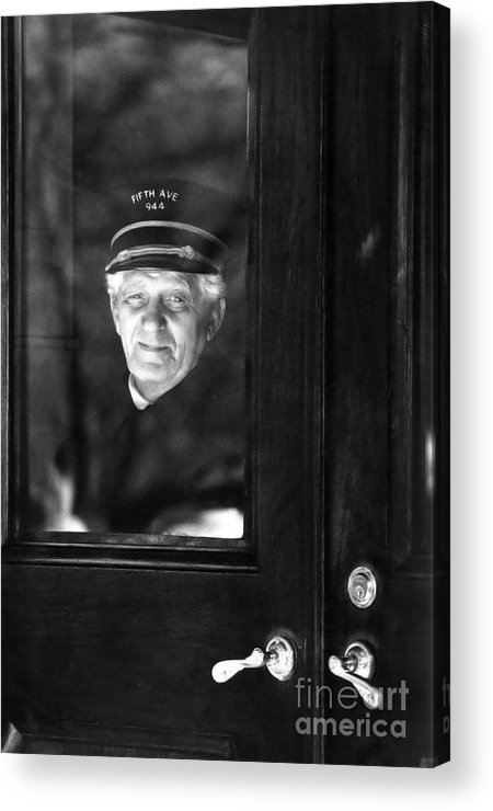 Doorman Acrylic Print featuring the photograph The Doorman by Andrea Simon