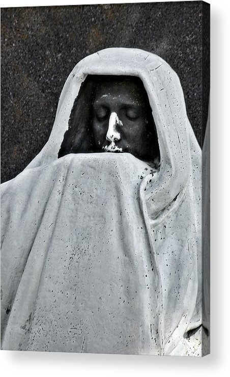 Graveyard Acrylic Print featuring the photograph The Face Of Death - Graceland Cemetery Chicago by Christine Till