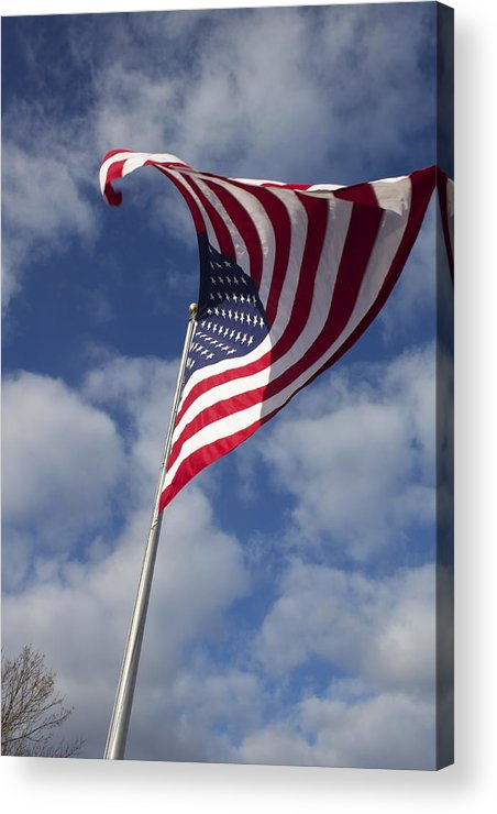 United States Flag Acrylic Print featuring the photograph The Flag Was Still There by Jeannette Cruz