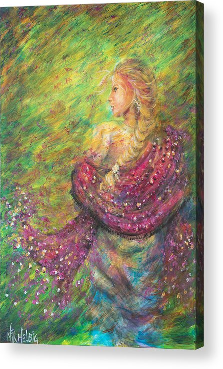 Lady Acrylic Print featuring the painting The Magdelene by Nik Helbig