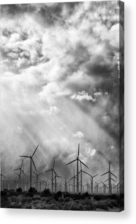 Windmills Acrylic Print featuring the photograph The Mighty Wind Palm Springs by William Dey