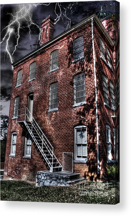 Abandoned Acrylic Print featuring the photograph The Old Jail by Dan Stone