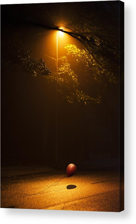 Ball Acrylic Print featuring the photograph The Red Balloon by Svetlana Sewell
