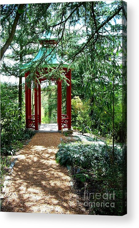 Gazebos Acrylic Print featuring the photograph Asian Paths No. 29 by Walter Oliver Neal