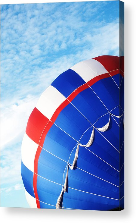 Hot Air Balloon Acrylic Print featuring the photograph The Red White And Blue by Dana Puccio