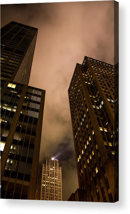 The Rock Acrylic Print featuring the photograph The Rock At Night by Sam Garcia