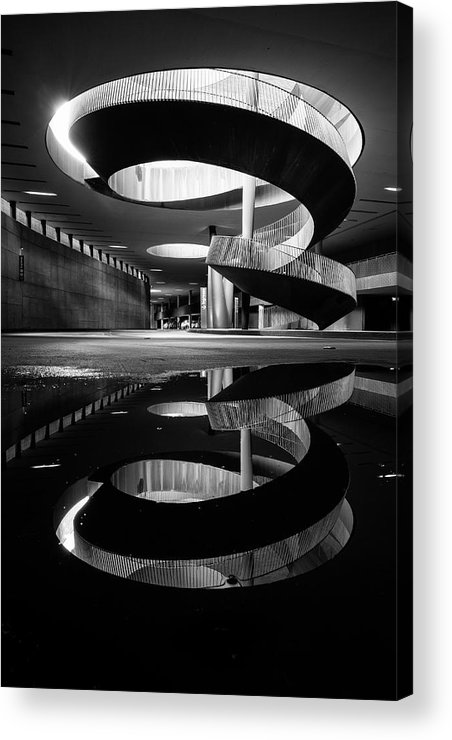 Bw Acrylic Print featuring the photograph The Spiral Of Time! by Luca Vescera