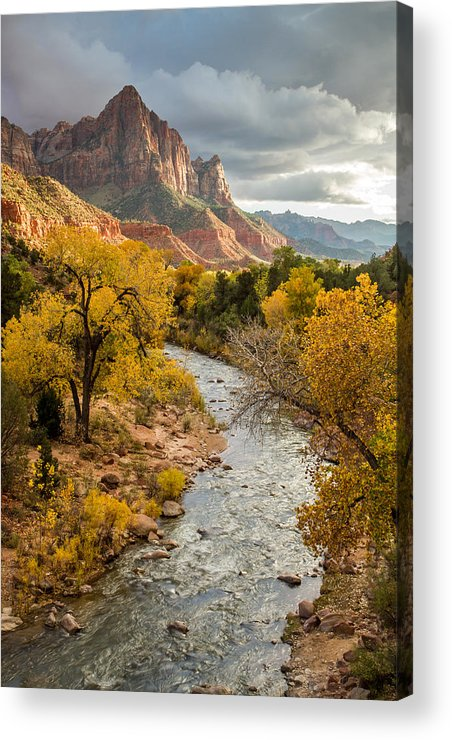 National Acrylic Print featuring the photograph The Watchman In Zion National Park by Pierre Leclerc Photography