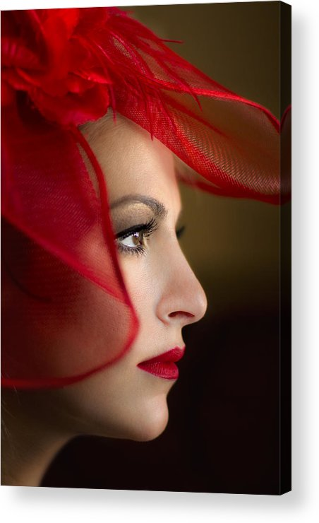 Face Acrylic Print featuring the photograph The Way You Look Tonight by Evelina Kremsdorf