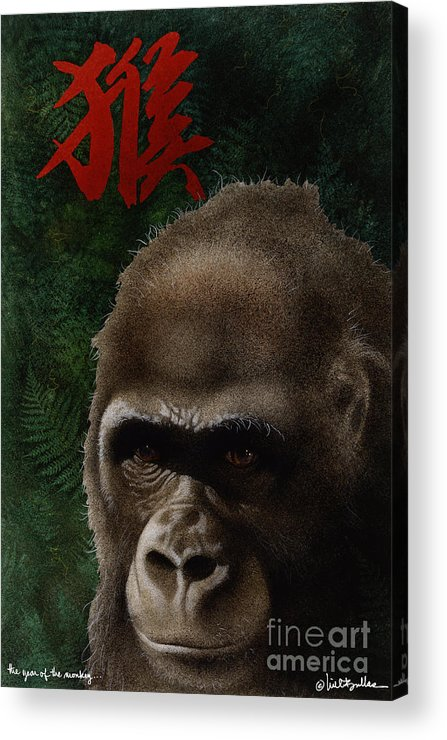 Will Bullas Acrylic Print featuring the painting The Year Of The Monkey... by Will Bullas