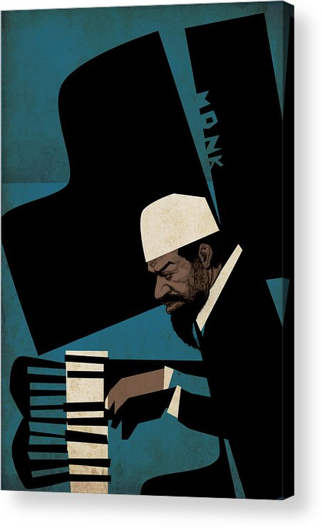 Thelonious Acrylic Print featuring the digital art Thelonious Monk by Thomas Seltzer