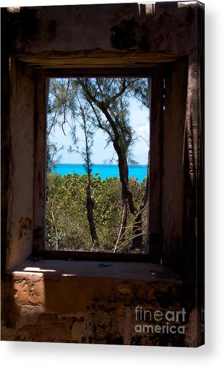 Historic Site Acrylic Print featuring the photograph Through The Window by Cheryl Hurtak