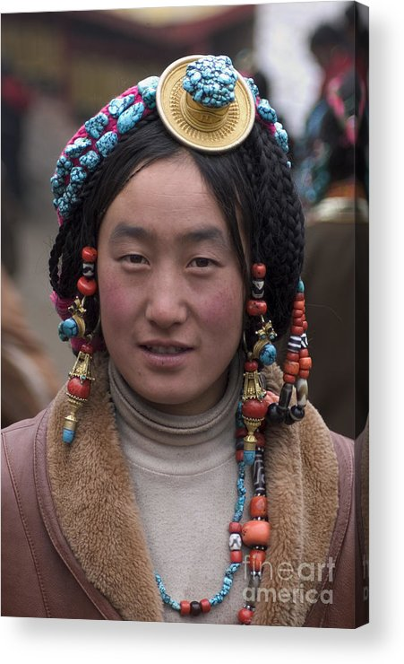 To Travel Acrylic Print featuring the photograph Tibetan Beauty - Kham by Craig Lovell