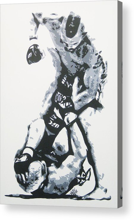 Mma Acrylic Print featuring the painting Tito On Ice by Geo Thomson