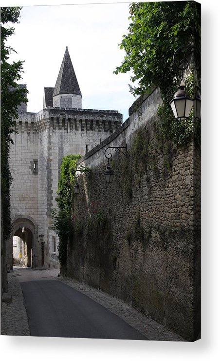 Town Gate Acrylic Print featuring the photograph Town Gate - Loches - France by Christiane Schulze Art And Photography