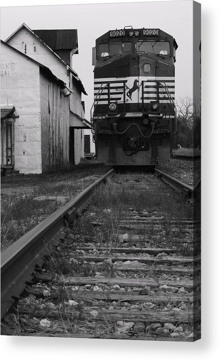 Train Acrylic Print featuring the photograph Train 9020 by Jerry Mann