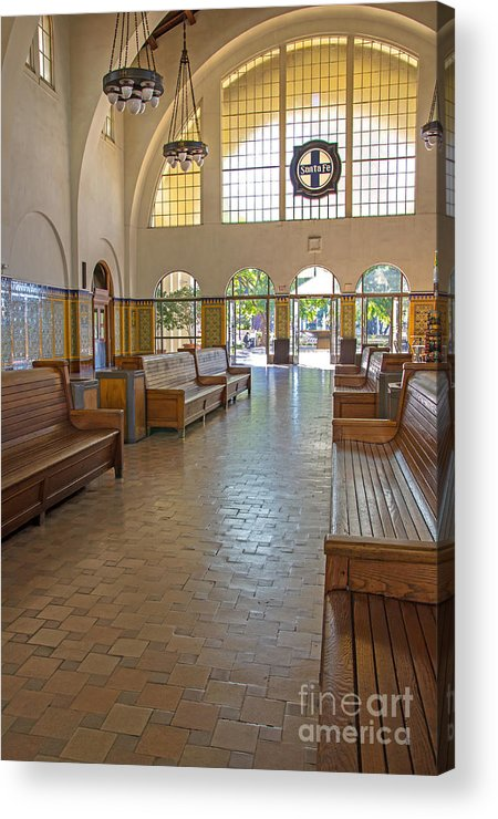Santa Fe Train Station Acrylic Print featuring the photograph Train Depot San Diego by Baywest Imaging