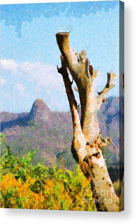 Ethiopia Acrylic Print featuring the painting Tree Painting by George Fedin and Magomed Magomedagaev