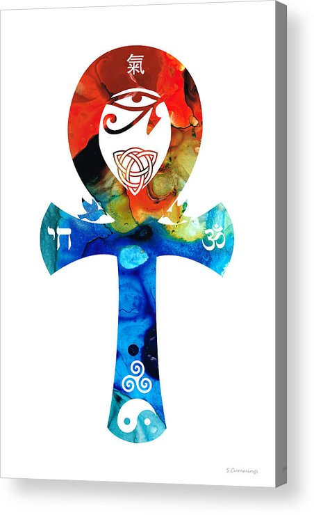 Unity Acrylic Print featuring the painting Unity 16 - Spiritual Artwork by Sharon Cummings