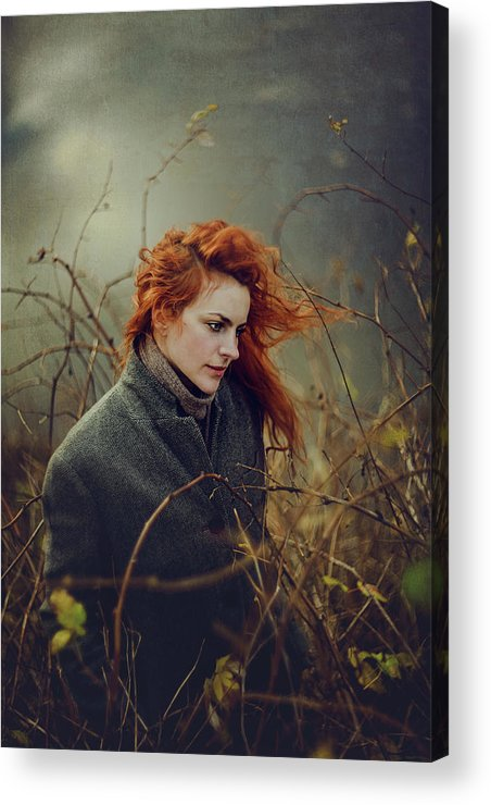 Red Hair Acrylic Print featuring the photograph Untitled by Elena Galitskaya