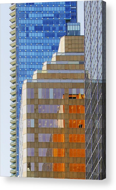 Architecture Acrylic Print featuring the photograph Vancouver Reflections No 1 by Ben and Raisa Gertsberg