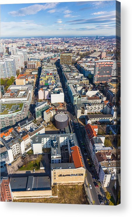 Apartments Acrylic Print featuring the photograph Vertical Aerial View Of Berlin by Semmick Photo
