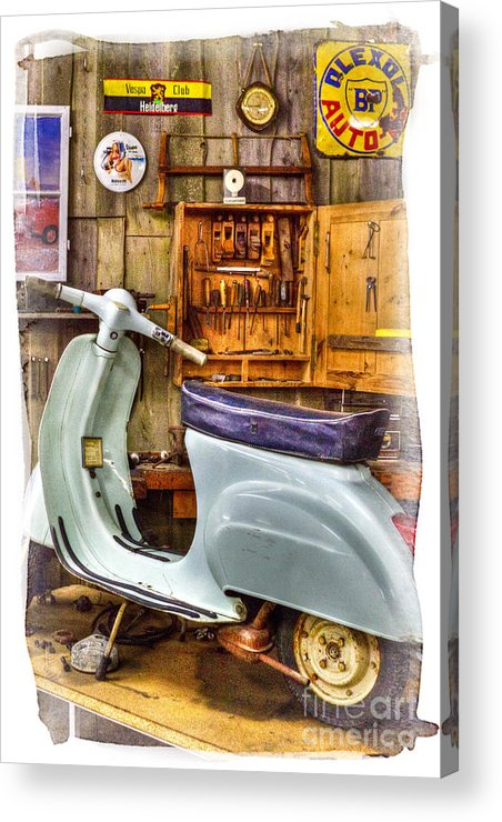 Vespa_scooter Acrylic Print featuring the photograph Vespa Scooter by Heiko Koehrer-Wagner