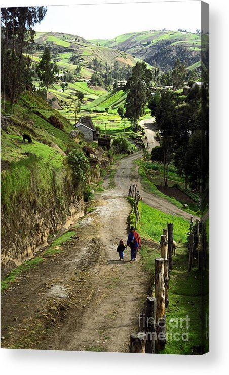 Ecuador Acrylic Print featuring the photograph View Of Lupaxi by Kathy McClure