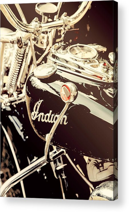 Indian Acrylic Print featuring the photograph Vintage 1948 Indian by Greg Sharpe