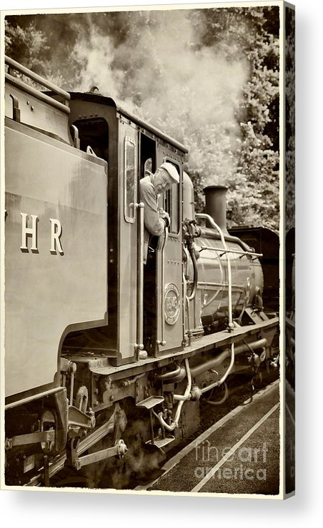 Antique Acrylic Print featuring the photograph Vintage Railway by Jane Rix