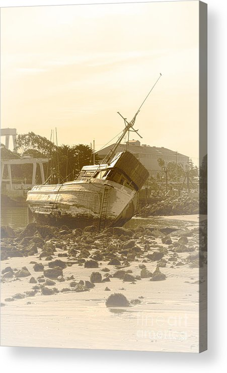 Shipwreck Acrylic Print featuring the photograph Vintage Shipwreck by Artist and Photographer Laura Wrede