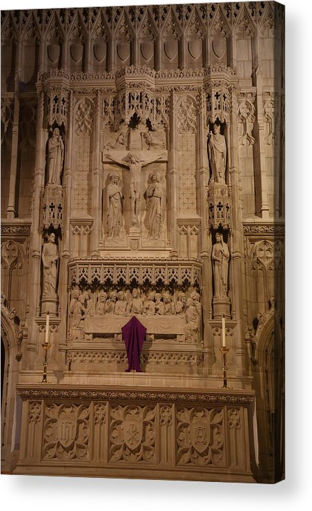 Alter Acrylic Print featuring the photograph Washington National Cathedral - Washington Dc - 011324 by DC Photographer