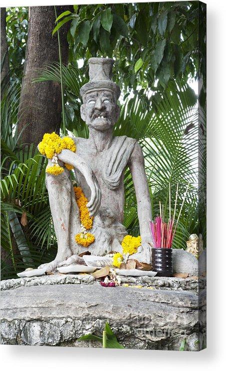 Wat Acrylic Print featuring the photograph Wat Pho, Thailand by David Davis