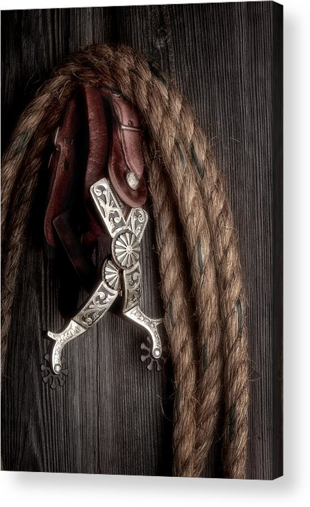 Spurs Acrylic Print featuring the photograph Western Spurs - Revisited by Tom Mc Nemar