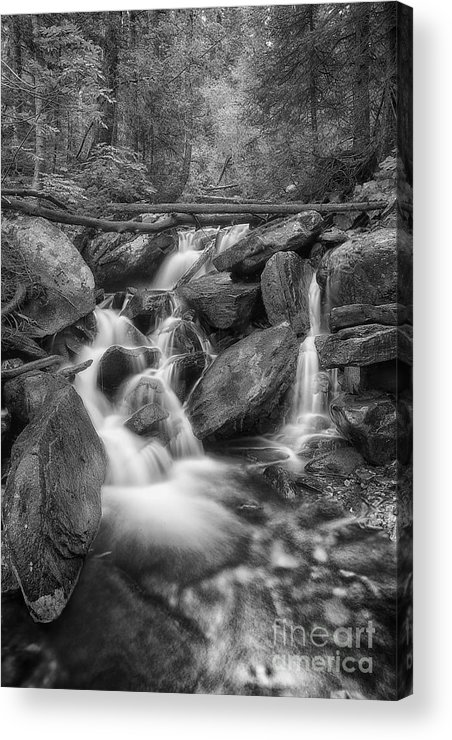 B&w Acrylic Print featuring the photograph White And Rocky Bw by Mitch Johanson