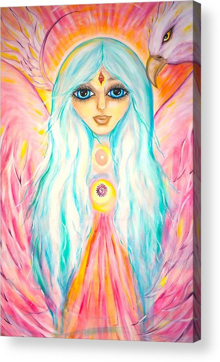 Spiritual Acrylic Print featuring the painting White Angel by Marley Art