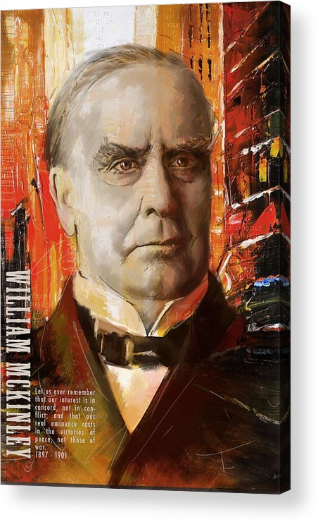 William Mckinley Acrylic Print featuring the painting William Mckinley by Corporate Art Task Force