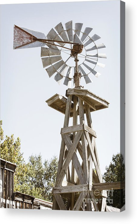 Windmill Acrylic Print featuring the photograph Windmill Antique In Color 3005.02 by M K Miller