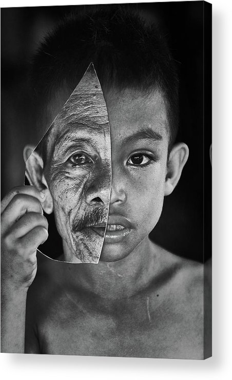 Portrait Acrylic Print featuring the photograph Young Or Old by Amaluddin