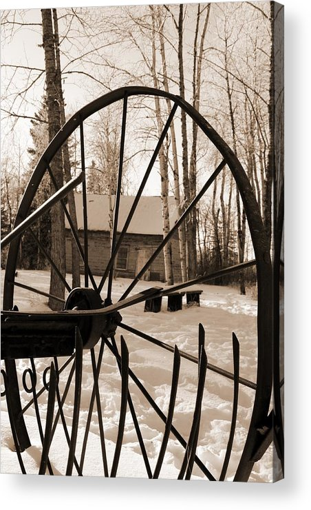 Wheel Acrylic Print featuring the photograph Big Wheel by Pat Purdy