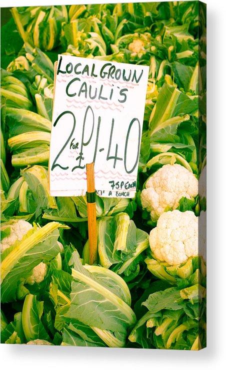 Abundance Acrylic Print featuring the photograph Cauliflower by Tom Gowanlock